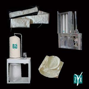 Maniche e sacchi filtranti