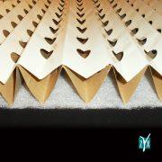 Filtro inerziale in cartone kraft plissettato con feltrina zyx zcv07 3