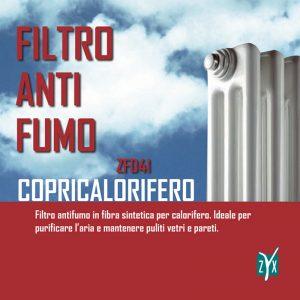 Filtro anti fumo copricalorifero zyx zfd41
