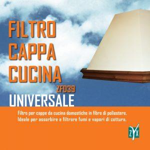 Filtro cappa cucina universale zyx zfd39
