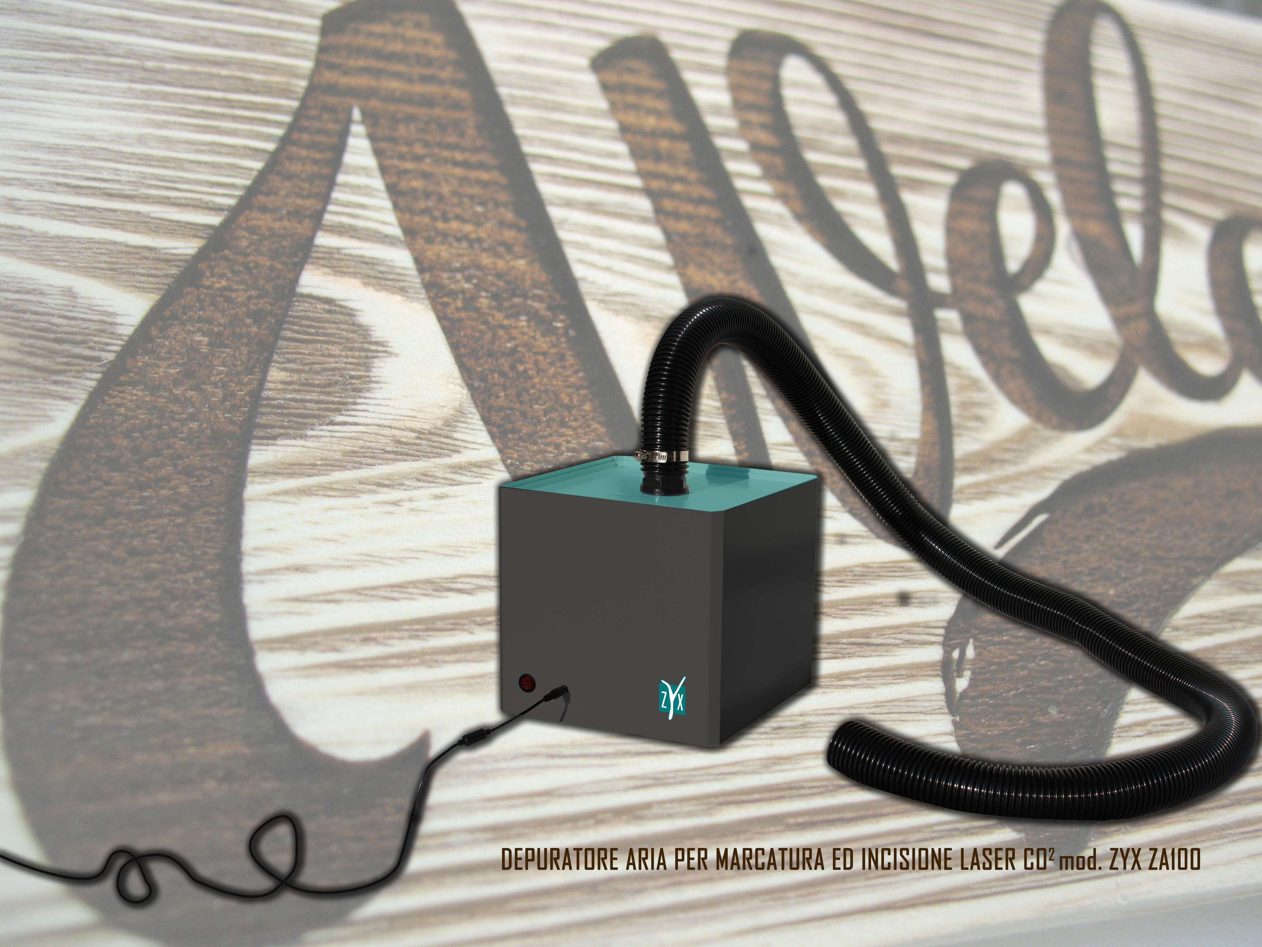 zyx za100 marcatura incisione laser co2 depuratore aria slide